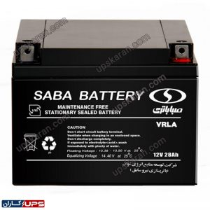 باتری یو پی اس 12 ولت 28 آمپر صبا