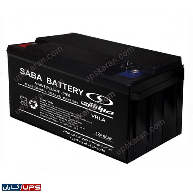 باتری یو پی اس 12 ولت 65 آمپر صبا