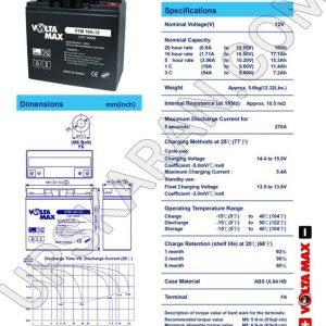 باتری یو پی اس 12 ولت 18 آمپر ولتا مکس-دیتاشیت1
