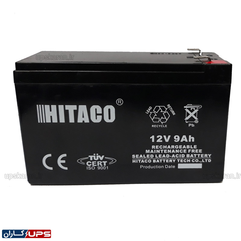 باتری یو پی اس 12 ولت 9 آمپر هیتاکو