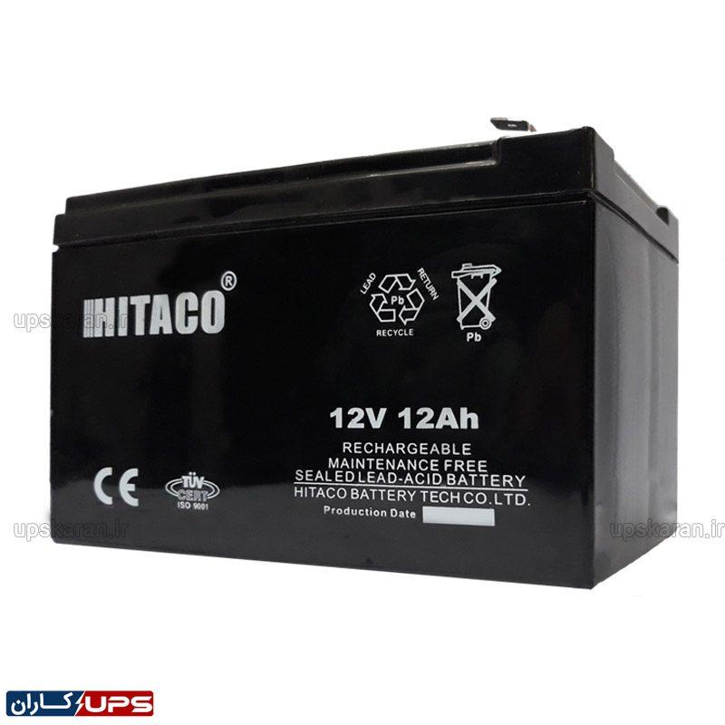 باتری یو پی اس ۱۲ ولت ۱۲ آمپر هیتاکو