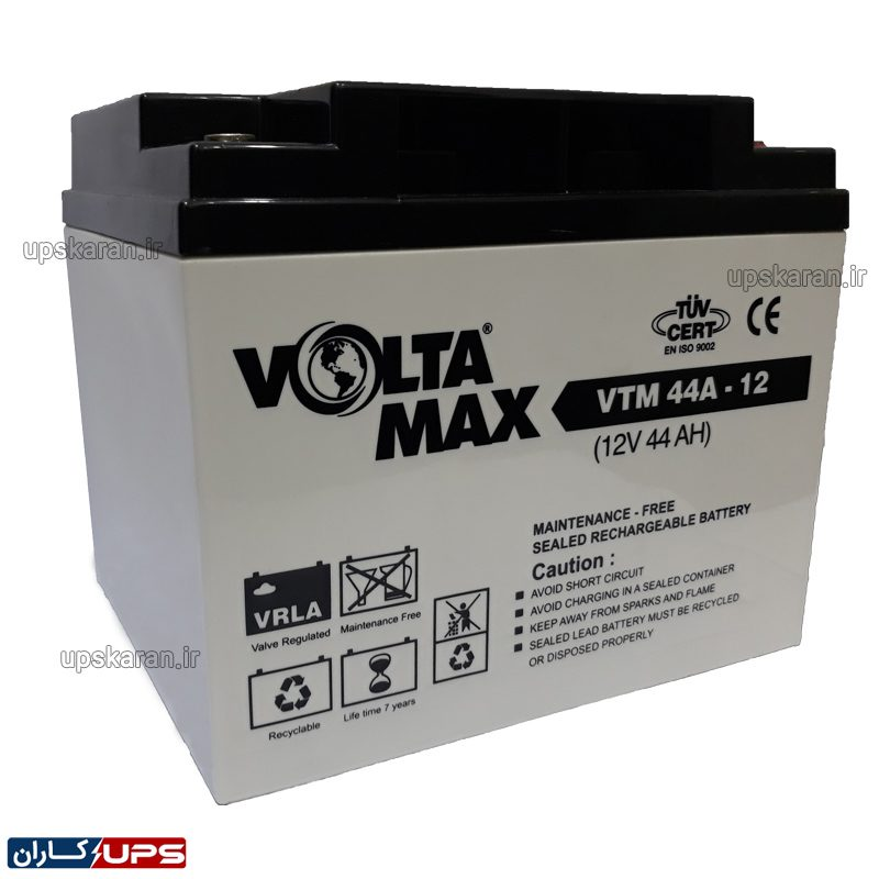 باتری یو پی اس 12 ولت 44 آمپر ولتامکس
