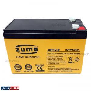 باتری یو پی اس 12 ولت 9 آمپر زوما