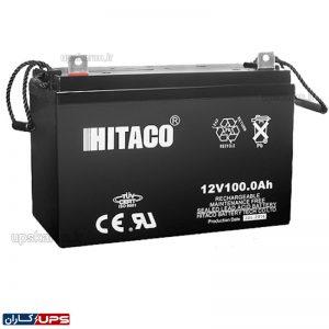 باتری یو پی اس 12 ولت 100 آمپر هیتاکو
