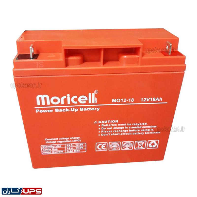 باتری یو پی اس 12 ولت 18 آمپر موریسل