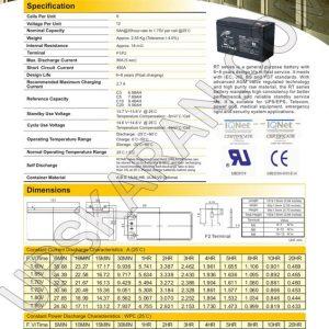 باتری یو پی اس 12 ولت 9 آمپر ریتار-دیتاشیت1
