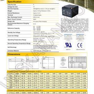باتری یو پی اس 12 ولت 28 آمپر ریتار-دیتاشیت1