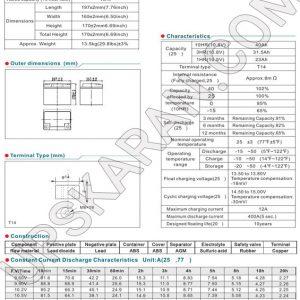 باتری یو پی اس 12 ولت 42 آمپر موریسل-دیتاشیت1