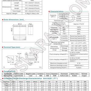 باتری یو پی اس 12 ولت18 آمپر موریسل-دیتاشیت2