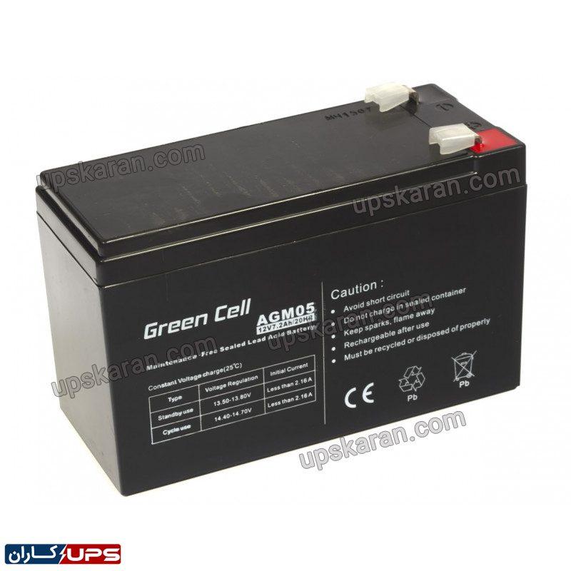 green cell battery agm 12v 7 2ah0