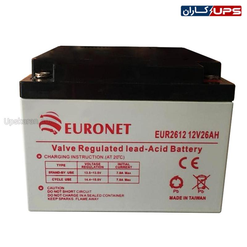 باتری 26 آمپر یورونت