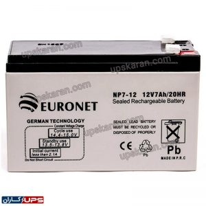 باتری 12 ولت 7 آمپر یورونت