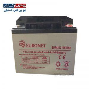 باتری 12 ولت 42 آمپر یورونت
